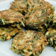 Spinach Latkes with Green Goddess Sauce Recipe
