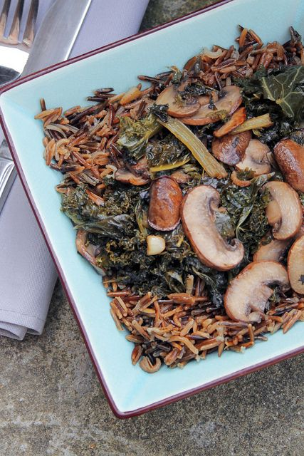 Wild Rice with Mushrooms and Chestnuts Recipe - Levana Cooks