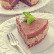 chocolate cakes with nut filling - vintage
