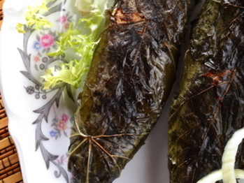 levana-cooks-Herb-Roasted-Trout-in-Grape-Leaves