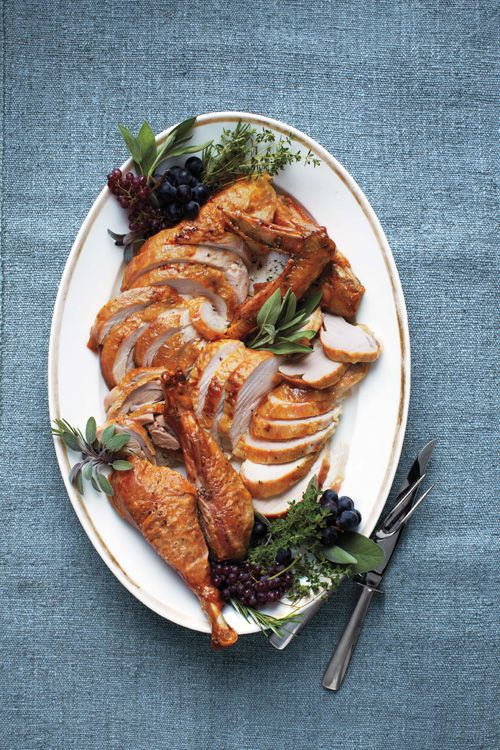 Maple Roasted Turkey with Apples, Fennel and Parsnips Recipe