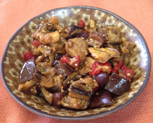Moroccan Eggplant Salad with Preserved Lemons and Olives Recipe ...