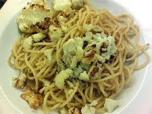Pasta with Roasted Cauliflower and Bread Crumbs Topping Recipe. Gluten ...