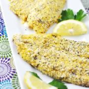 Cornmeal-Crusted Tilapia Fillets with Cocktail Sauce Recipe