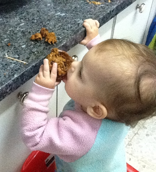 My Youngest and Cutest Fan: My Muffins are Working:-)