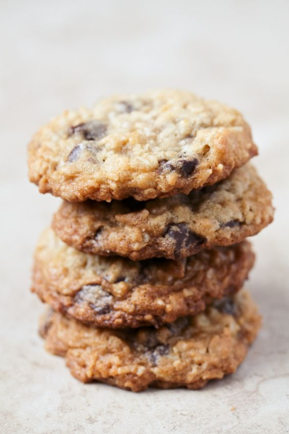 Oatmeal Chocolate Chip Coconut Cookies Recipe. Gluten-Free Friendly.