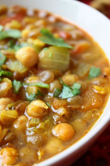 ... Moroccan Lentil Soup , and my Indian Red Lentil Soup , are among my