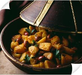 Moroccan Potato, Tomato and Olive Tajine Recipe. All Variations