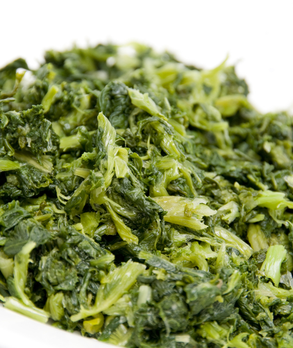 chopped mustard greens green leafy vegetable