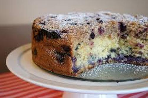 Blueberry Cake with Almond Streusel Recipe - Levana Cooks