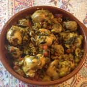 Swiss Chard Mustard Greens Chicken Lamb Tajine Recipe