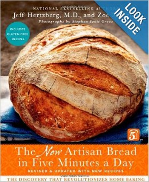 No Knead Bread Book. The New Artisan Bread in 5 Minutes a Day. Zoe Francois and Jeff Hertzberg.