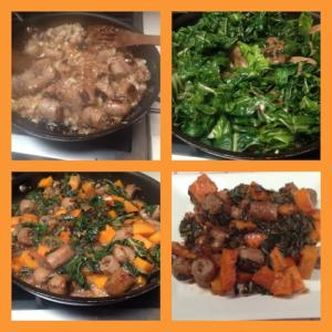 Maple-Roasted Butternut Squash, Chard, And Sausage Flatbread Recipes ...