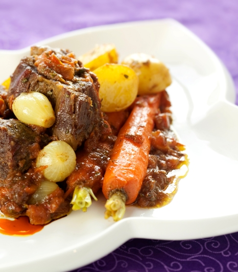 Spend a wonderful evening with a few French classics and some wine to go with dinner! By the way, my bourguignon has been included in Joan Schwartz's charming book, deceptively innocent, called Meat and Potatoes