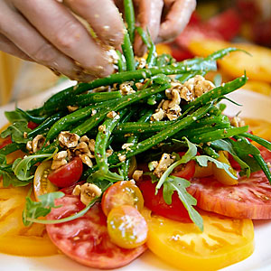Heirloom Tomato, Basil and Haricots Verts Salad Recipe