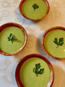 Fresh Peas soup