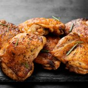 Dry spice rub roasted chicken