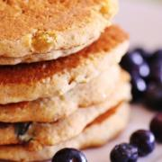 Cornmeal Yogurt Blueberry Pancakes