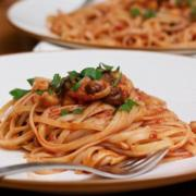Cooking with Mahia: Linguini with Fresh Tomato Anchovy Sauce Recipe