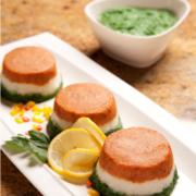 Tricolor Fish Terrine Recipe with Vegetarian Variation