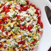 Mock Crab Corn Apple Salad Recipe