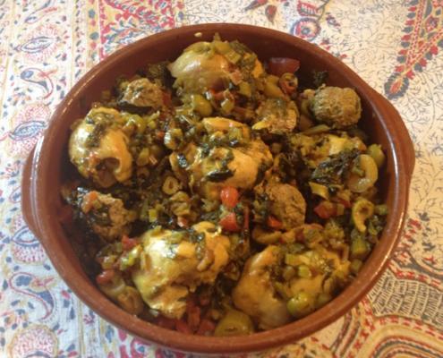Swiss Chard Mustard Greens Chicken Lamb Tajine Recipe