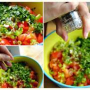 Moroccan Tomato Salad Recipe. Salsa Variation