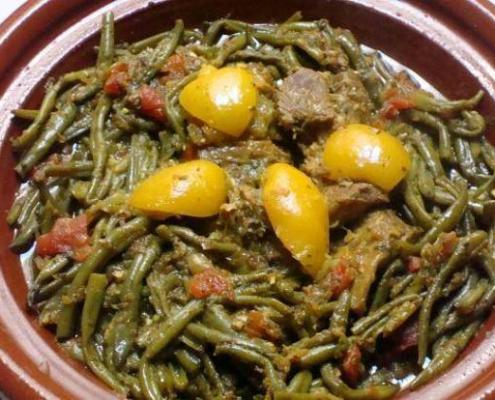 Moroccan Chicken Tajine with String Beans