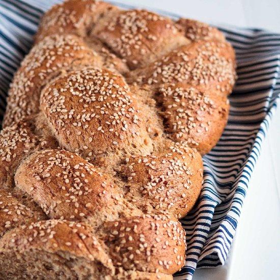 no knead challah