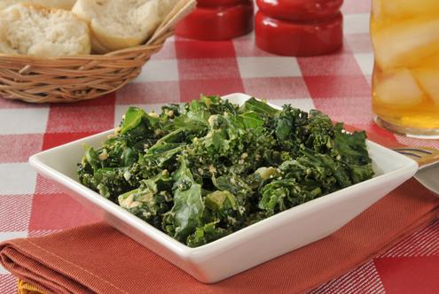 Crab kale salad