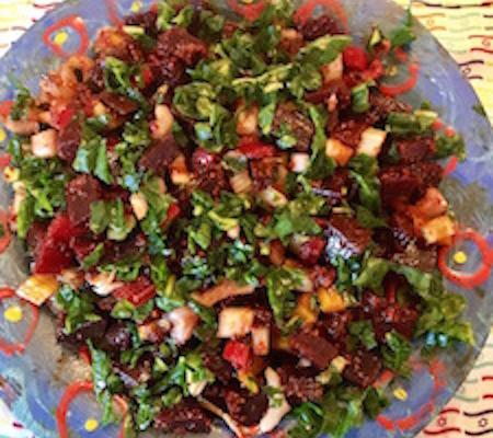 swiss chard beet salad