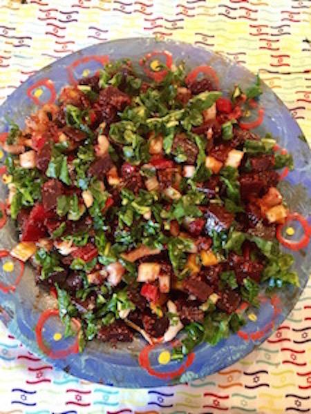 Moroccan Swiss Chard Beet Salad Recipe Levana Cooks