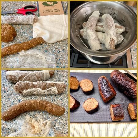 Seitan sausages