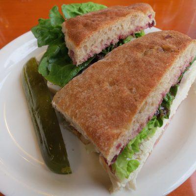 Seitan loaf sandwich